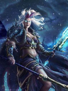 World of Warcraft Fantasy Female Warrior, Fantasy Women, Fantasy Rpg, Medieval Fantasy, Dark Fantasy Art, Fantasy Girl, Fantasy Artwork, Elf Warrior, World Of Warcraft Game