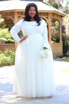 5f23b291ac390 Plus Size Clothing for Women - Premium Tutu - Long Champagne - Society+ - Society  Plus