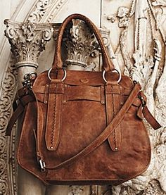 camel anthropologie purse