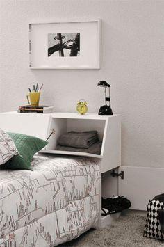 Se o seu negócio é a cama box, em vez de uma cabeceira comum, escolha uma p...