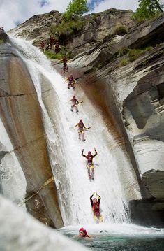 Canyoning Slide