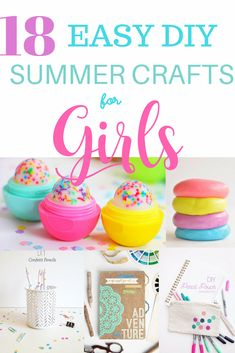Easy diy summer crafts and activities for girls tween crafts. For summer teen crafts diy easy crafts fun teen crafts, Diy Crafts For Teen Girls, Diy And Crafts Sewing, Easy Diy Crafts, Diy Projects For Teens, Diy For Teens, Simple Crafts, Easy Crafts For Teens, Teen Diy, Craft Ideas For Girls