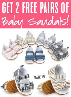 Baby Fashion Girl Summer Style for Toddlers & Princesses!  Just pick your favorite pattern... and grab some for Baby's summer outfits, or snatch some up as super CUTE baby shower gifts for your friends and family!  Did you get yours yet? Sandals Outfit Summer, Baby Sandals, Cute Sandals, Baby Shoes, Summer Baby, Summer Girls, Cute Baby Girl, Cute Babies, Baby Girl Fashion