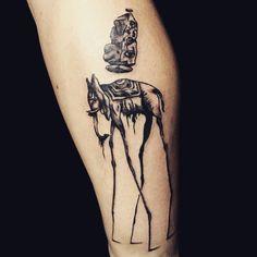 Dali's elephant  #tats #tatts #tagsta #tattoo #tattoos #tattooed #teamtatt #tattooart #tattoolove #tattooshop #tattoostudio #ink #inked #instaart #instapic #ineedpain #art #artist #artwork #awesome #getinked #bodyart #needles #newtattoo #dalitattoo #dalielephanttattoo #elephanttattoo #surrealism #yaivoncrash