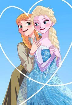 Frozen- Anna and Elsa Frozen Disney, Frozen Art, Frozen Movie, Disney Love, Anna Und Elsa, Frozen Elsa And Anna, Frozen Queen, Queen Elsa, Disney And Dreamworks