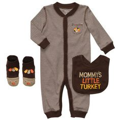 Thanksgiving 3-Piece Little Layette Set