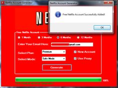 Netflix Premium Account Generator allows you to generate how many premium accounts you want which are good for a total of a 12 month period. This tools works NetFlix Premium Accounts Generator Codes Netflix, Netflix Account And Password, Get Netflix, Netflix Hacks, Netflix Free, Netflix 2017, Netflix Users, Netflix Premium, Netflix Gift Card