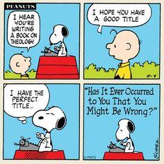 Snoopy writes a book.