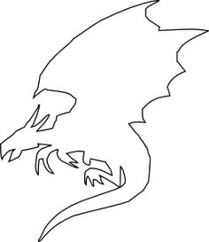 Flying Dragon Outline Clip Art