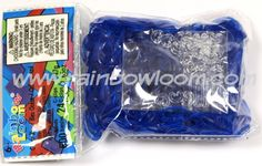 Ocean Blue (Jelly) | Rainbow Loom, an educational rubber band craft for…