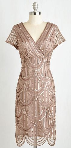 Cascading Cava dress in Taupe from Modcloth - stunning dress for a Mother of the Bride