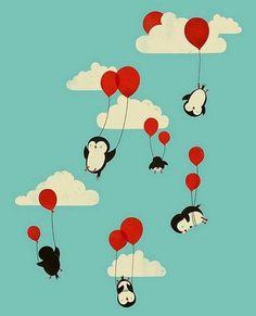 Feliz sábado a tod@s!! Este finde toca coser coser y coser. Ojalá fuera tejer tejer y tejer. #felizsabado #sabado #happysaturday #weekend #happyweekend #findesemana #felizfindesemana #amigurumi #amigurumis #crochet #ganchillo #hechoamano #handmade #handmadetoys #pinguin #pinguino #globo #ballon #illustration #ilustracion #kawaiigumis by kawaiigumis