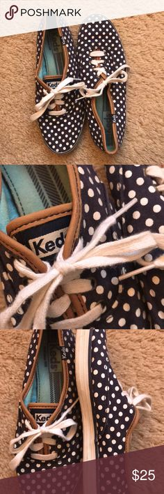 Keds Champion-Navy Dot Canvas Sneaker -Super comfortable shoe -clean and looking good Keds Shoes Sneakers