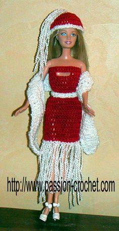 Barbie de Noël au crochet