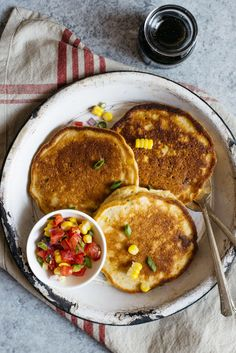 Savory Pancakes with Corn and Scallions (Dairy Free) - These gluten ...