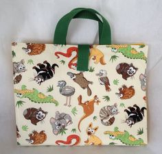 Australian Animals Activity Carry Busy Bag with 5 A5 zip plastic pouches £8.49
