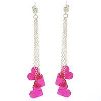 Shrinky Dink hearts dangle earrings... DIY at Beadaholique.com...Stacy Earrings