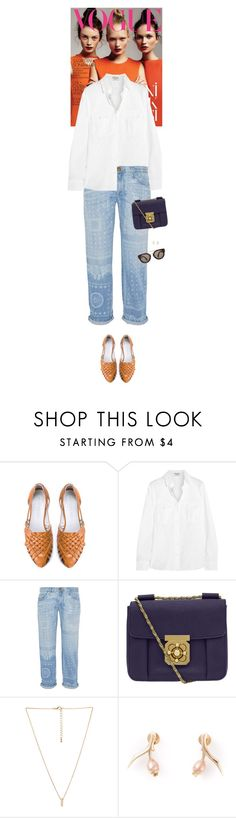 """""""Outfit of the Day"""" by wizmurphy ❤ liked on Polyvore featuring Frame Denim, Current/Elliott, Chloé, Love 21, Shaun Leane, CÉLINE, ootd and currentelliott"""