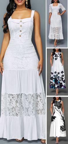 Dresses online for sale Casual Dresses, Fashion Dresses, Summer Dresses, Woman Dresses, Dress Skirt, Dress Up, White Dresses For Women, Lovely Dresses, Beautiful Dresses For Women