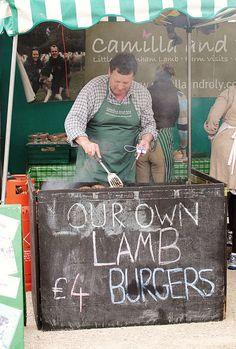 mmm, lamb burgers