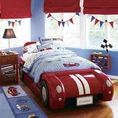 The coolest little boy room ever, look at that bed! Cute!