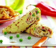 Lav de lækreste Lavkarbo-æggewraps med tunsalat til frokost Low Carb Wraps, Lchf, Sandwiches, A Food, Brunch, Mexican, Healthy Recipes, Ethnic Recipes, Diabetes