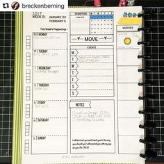 Loving how @breckenberning took one of our printables and adjusted it to fit her needs. Looks great! #repost @breckenberning with @repostapp ・・・ This is how I am setting up my main weekly page in my bullet journal. I got the template from @jolanijolie and then made some adaptations to suit my personal needs a little better. I've decided that this portion of my BJ will be mostly a computer print-out, simply to conserve more of my energy for the Bible Journaling pages of my Bullet Journal. As…