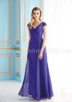 A-line V-neck Cap Sleeves Chiffon jade J155057 Mother of the Bride/Mother's Party/Women Party/Wedding Guest Dresses