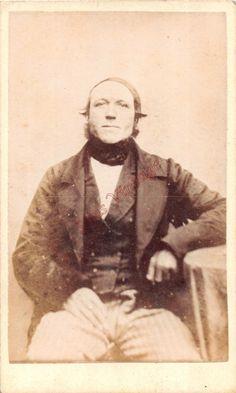 OLD CDV D4 PHOTO Alfred Poole Morecambe Victorian Man Antique Image Fashion 016 | eBay