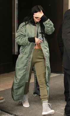 Bi-coastal: Kylie Jenner stepped out in New York on Thursday after jetting in the day befo...