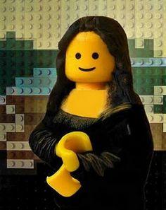Mona Lisa in Legos