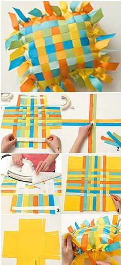 cute little ribbon pillow - seems simple enough