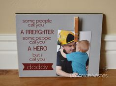 Gift for Firefighter Dad: Some People Call by DandelionWishesDesig