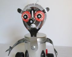 SID- Found object robot sculpture~assemblage