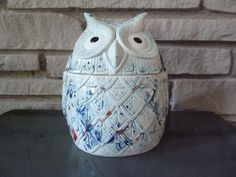 Your place to buy and sell all things handmade Ceramic Owl, Vintage Ceramic, Little Owl, Thing 1, Letting Go Of Him, Vintage Cookies, Slab Pottery, Cookie Jars, Handmade Pottery