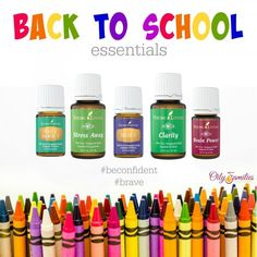 Essential Oils for back-to-school uneasiness