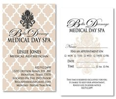 Medical Spa Business Cards / Appointment Cards by meaganadair, $55.00