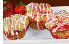 Try something new with your Strawberry & Cream Cheese Butter Braid pastry! Delicious Strawberry & Cream Cheese Muffins!