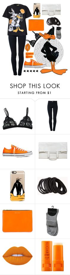 """""""Daffy Duck <33"""" by xxkatiehemmingsxx ❤ liked on Polyvore featuring STELLA McCARTNEY, Converse, Maison Margiela, Casetify, Forever 21, Comme des Garçons, Lime Crime, Fresh, contest and daffyduck"""