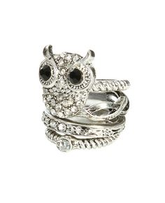 Owl Stack Ring - Jewelry