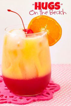 Cocktail ~ Hugs on the Beach | heatherlikesfood.com, #cocktails, #drinks, #alcohol
