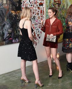 & Other Stories | Dakota Fanning and Riley Keough celebrating the Rodarte & Other Stories co-lab in LA.