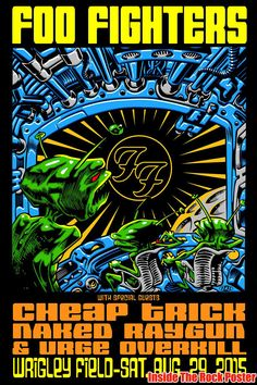 Foo Fighters Jim Evans TAZ Chicago Wrigley Field Poster World Premiere Exclusive
