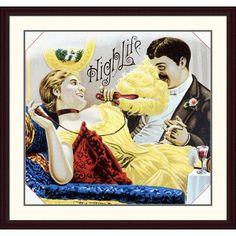 Global Gallery High Life Framed Vintage Advertisement Size: