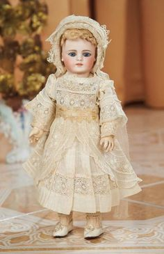 Petite Early German Bisque Doll with Rare Body by Simon and Halbig 1200/1800