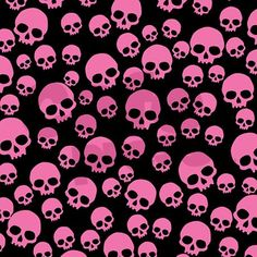 Pink skulls on black fabric curtain panel $58 on CafePress.com.  After all, it isn't enough to just have a nice buffet table at a party, you should decorate the entire room.  This shower curtain would make a great window or wall covering, and it is perfect for Halloween! Halloween 'Pink-O-Ween' Party