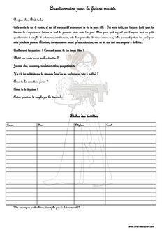 Comment organiser un un EVJF : questionnaire pour la future mariée