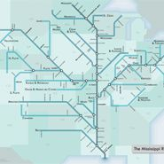 Rivers as subway maps.