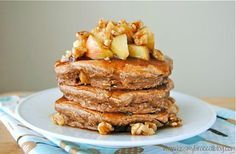 Apple Pie Protein Pancakes