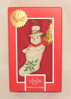 Lenox Holiday Snowman Stocking Stuffer Christmas Ornament (829574A)  - Available at Connected Concepts e-Commerce Shop at eBay Stores